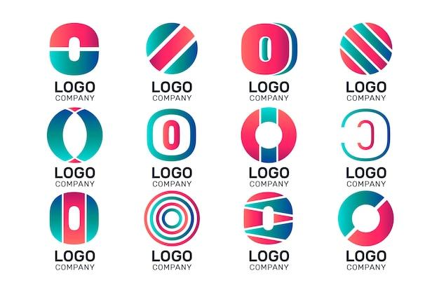 フラットデザインoロゴテンプレートコレクション