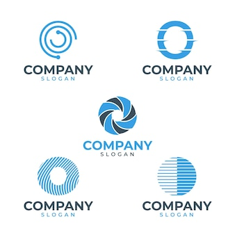 Flat design o logo templates pack