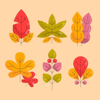 평면 디자인 화려한 잎