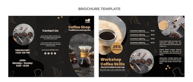 Плоский дизайн пищевой брошюры