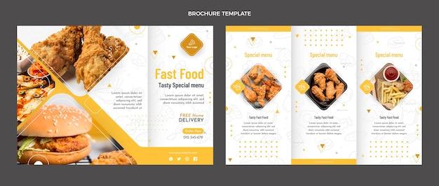 食品パンフレットのフラットなデザイン