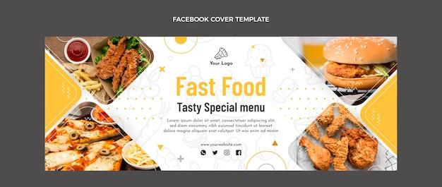 음식 페이스 북 커버의 평면 디자인