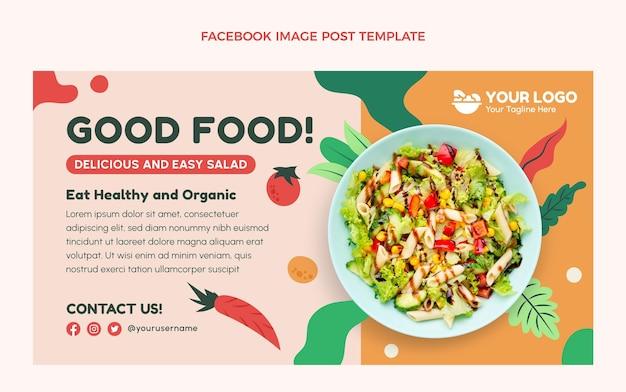 Плоский дизайн еды facebook post