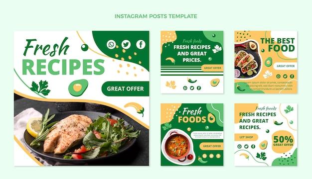 Плоский дизайн еды ig post