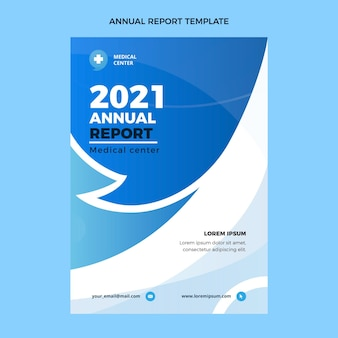 Плоский дизайн медицинского годового отчета