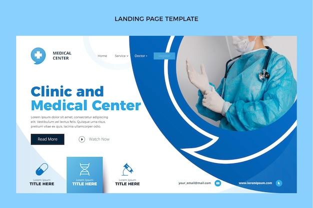 의료 방문 페이지의 평면 디자인