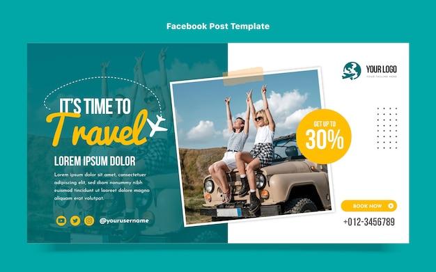 여행 페이스 북 게시물의 평면 디자인