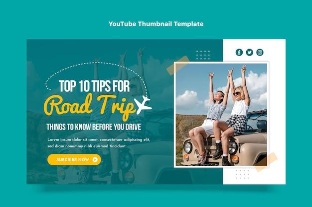 여행 유튜브 썸네일의 평면 디자인