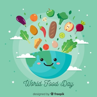 평면 디자인 세계 음식의 날