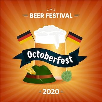 Concetto di design piatto oktoberfest