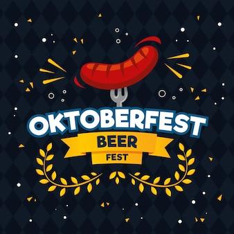 Flat design oktoberfest concept