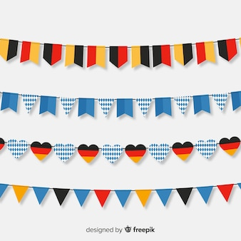 Flat design oktoberfest garland collection