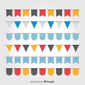 Flat design oktoberfest garland collection