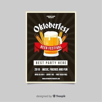 Flat design oktoberfest template