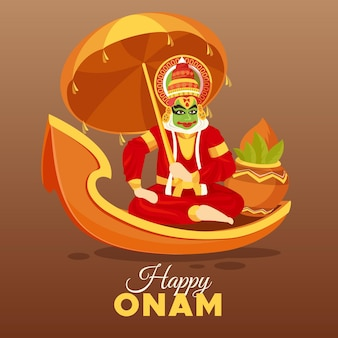 Flat design onam event theme