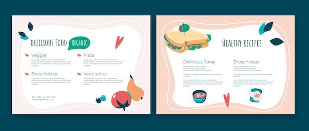 Brochure di alimenti biologici dal design piatto