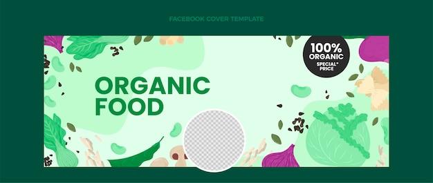 평면 디자인 유기농 식품 페이스 북 커버