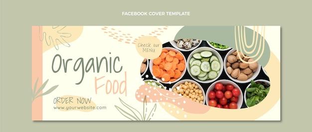 フラットデザインの有機食品facebookカバー