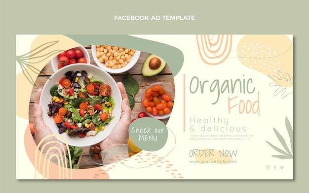 평면 디자인 유기농 식품 페이스 북 템플릿