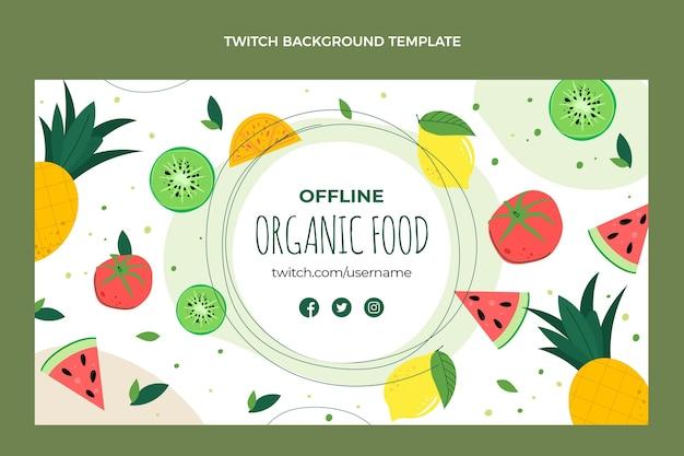 Плоский дизайн органических продуктов питания подергивание фона