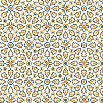 Flat design ornamental arabic pattern