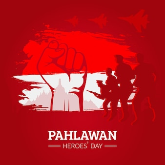 Flat design pahlawan day