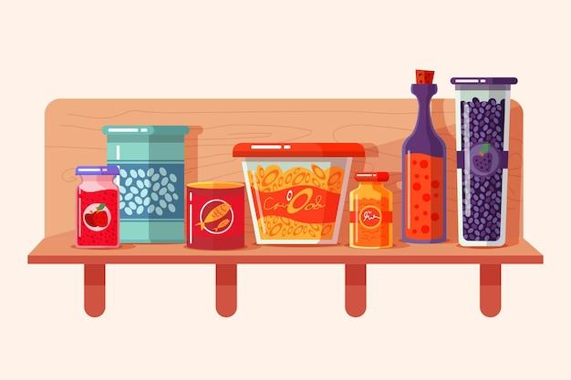 Collezione di dispensa design piatto