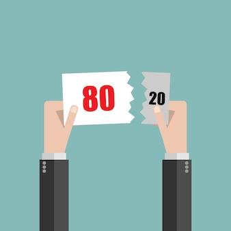 Плоский дизайн принцип парето правило 80/20
