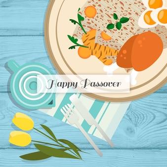 Flat design passover celebration
