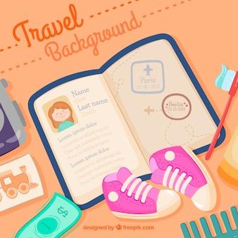 Sfondo piano di passaporto design