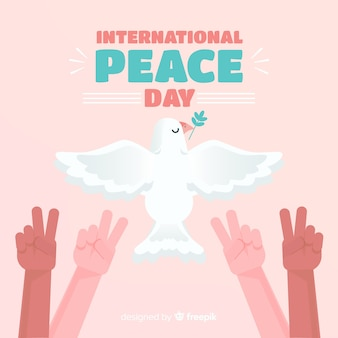 Flat design peace day background