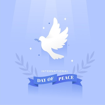 Flat design peace day celebration