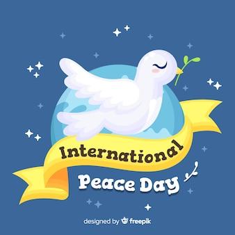 비둘기와 평면 디자인 평화의 날