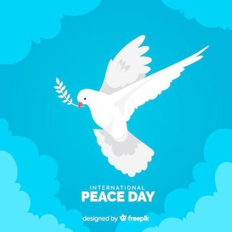 Плоский дизайн мирный день с голубем