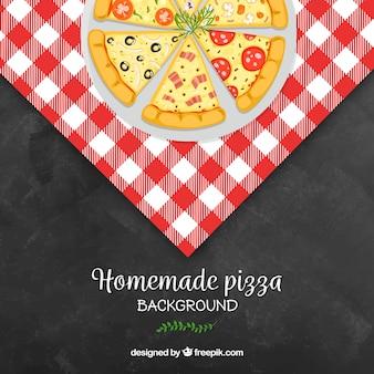 Sfondo piano pizza ristorante design Vettore gratuito