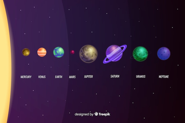 Flat design of planet collection