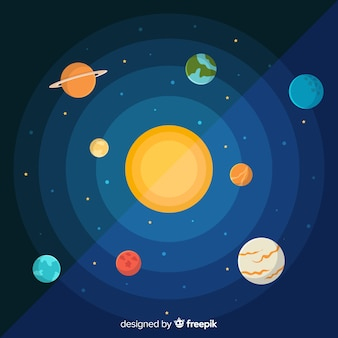 Flat design planet collection