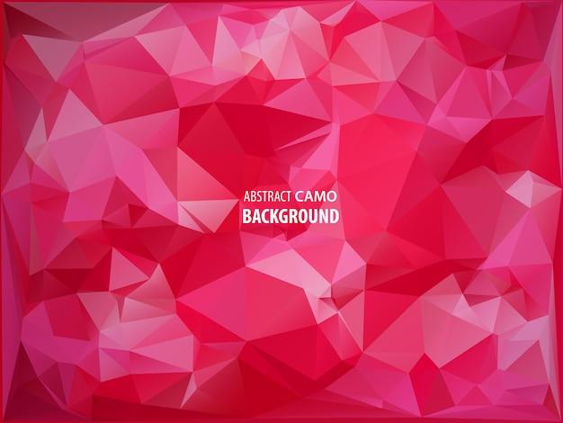 三角形の背景に分離されたイースター赤い卵のフラットなデザインのポリゴン。ベクトルイラスト。流行に敏感な低ポリ三角形スタイルのハッピーイースターカード。グリーティングカードやエレガントなパーティーの招待状に最適です。
