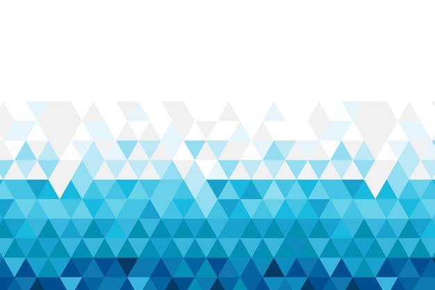 Fondo poligonale design piatto