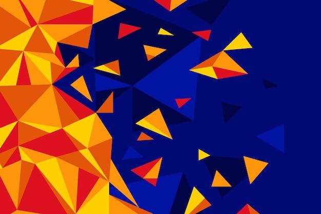 フラットなデザインの多角形の背景
