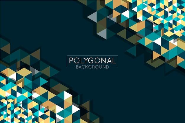 Flat design polygonal background
