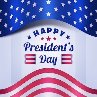 Flat design presidents day celebration event theme