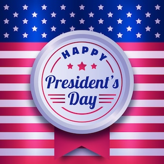 Flat design presidents day celebration event
