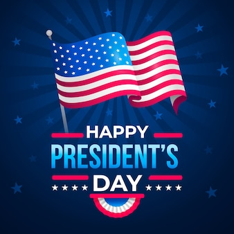 Flat design presidents day celebration