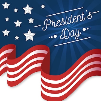 Flat design presidents day concept