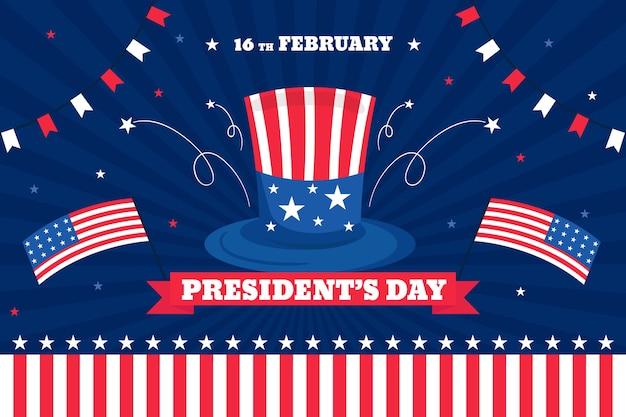 Flat design presidents day design