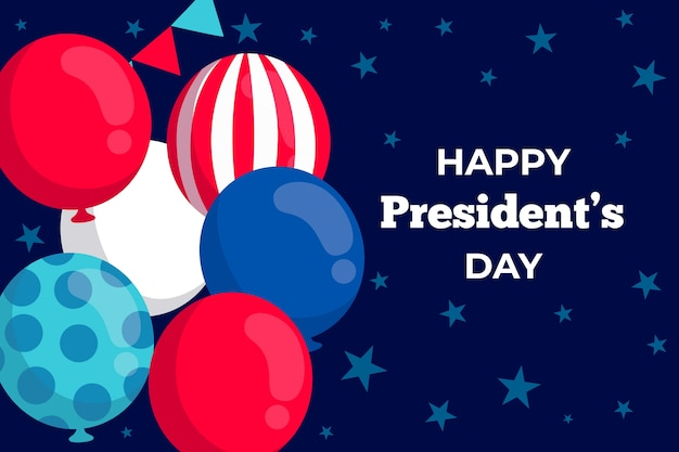 Flat design presidents day event