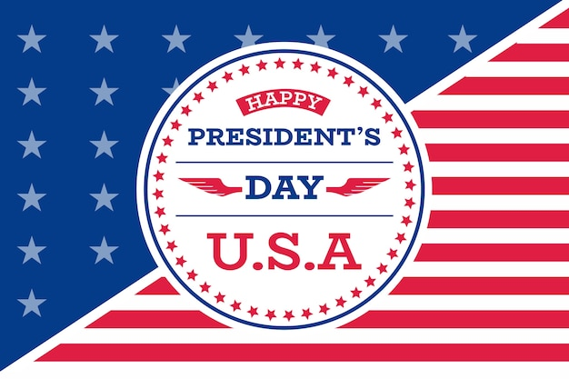 Flat design presidents day theme