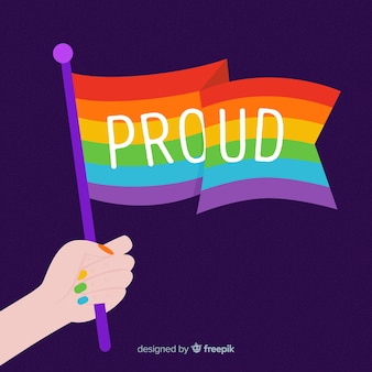 Flat design pride day background