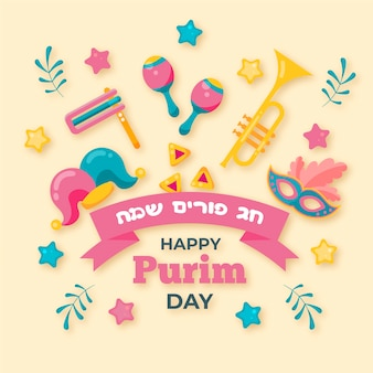 Design piatto purim day design